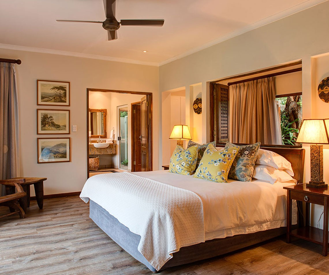 A spacious and private Suite offering luxury accommodation in Zululand