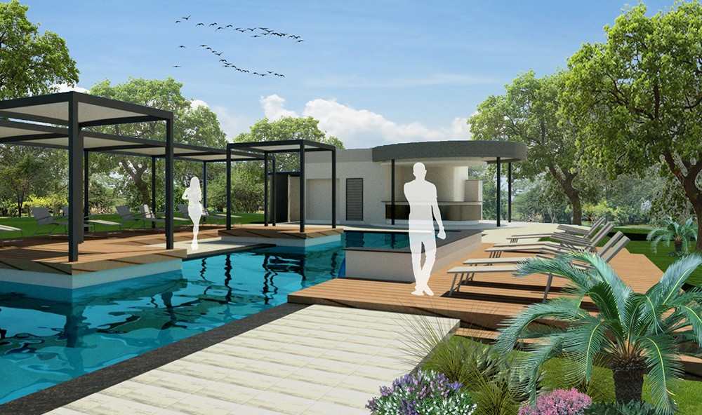 Artistic Impression of New Pool Area at Ghost Mountain Inn